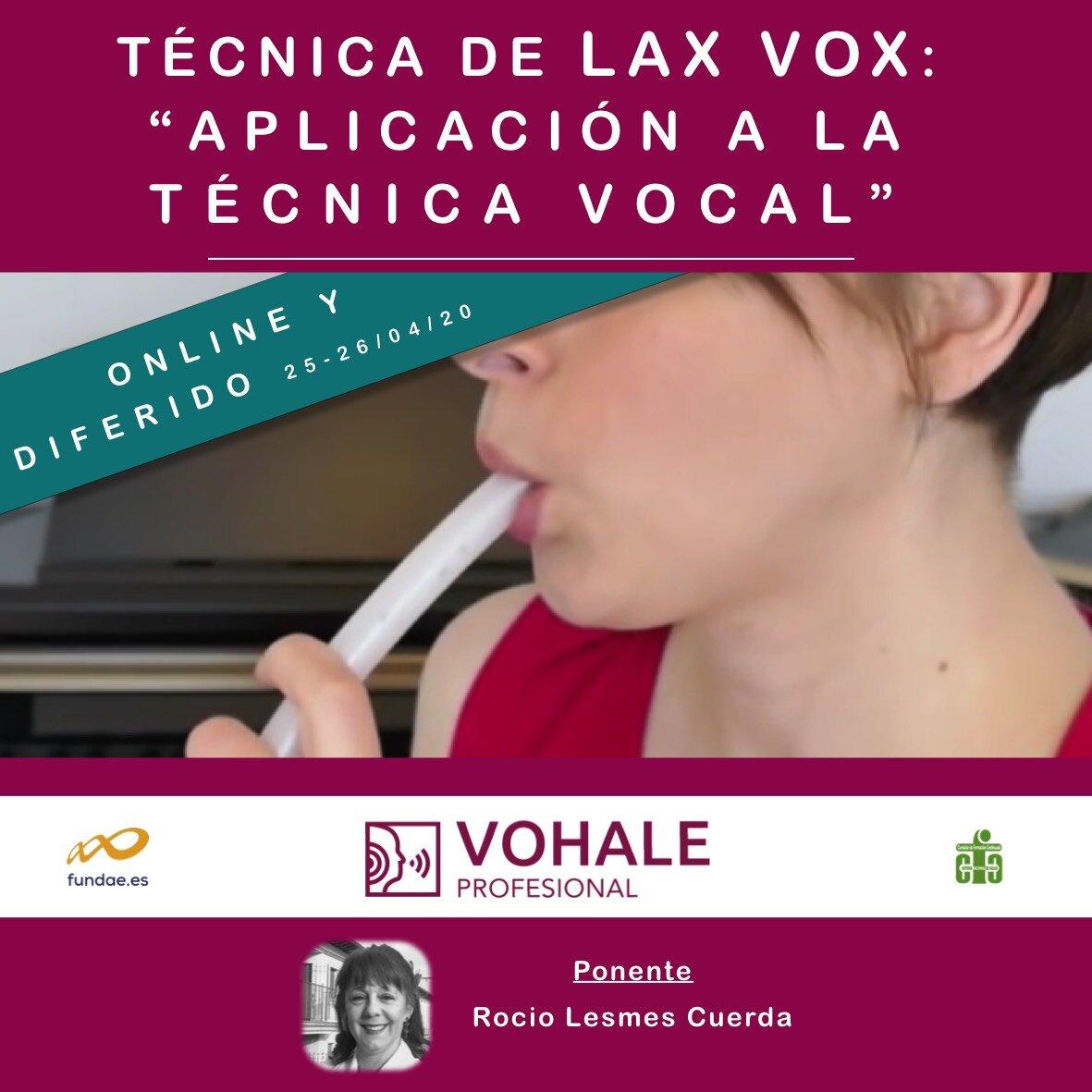"""TÉCNICA DE LAX VOX: """"APLICACIÓN A LA TÉCNICA VOCAL"""""""